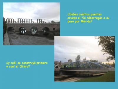 ¿Cuántos puentes cruzan el río Albarregas a su paso por Mérida?